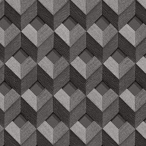Embellish 3D Stitched Black Cube Design 33