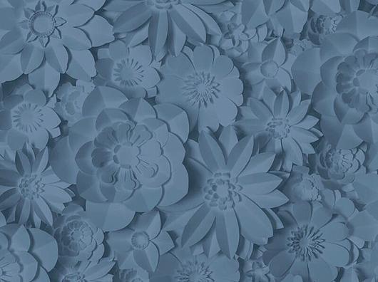 Amazing Blue, 3D Effect, Paper Flowers Design