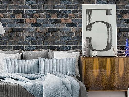 Durham Brick Blue, Grandeco Life A52402